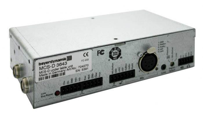 یونیت کنفرانس دیجیتال محصول کمپانی Beyerdynamic ( بیرداینامیک ) مدل MCS-D 3643