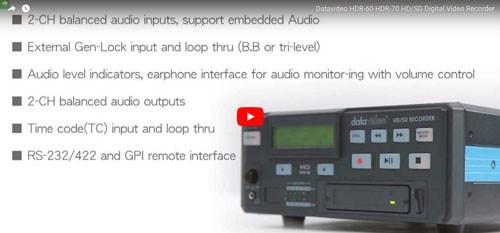 فیلم آموزشی رکوردر های تصویر حرفه ای دیجیتال Datavideo ( دیتا ویدئو ) مدل HDR60 , HDR70
