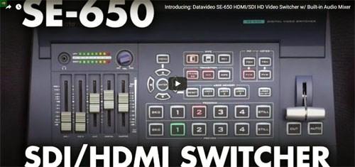 فیلم آموزشی میکسر تصویر دیجیتال Datavideo مدل SE 650