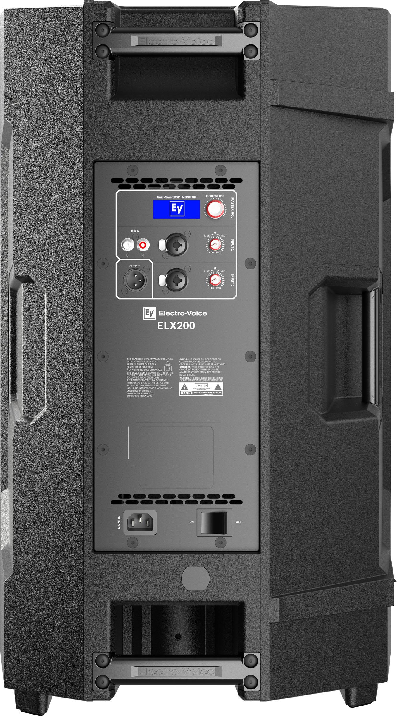 Electro-Voice ELX200 - نمای پشت باند های اکتیو و پسیو حرفه ای