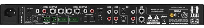 نمای پشت میکسر و پری آمپ محصول کمپانی Hill-Audio ( هیل آدیو ) مدل IMM-2320V2