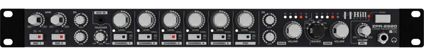 میکسر و پری آمپ زون بندی محصول کمپانی Hill-Audio ( هیل آدیو ) سری ZPR 2620v2