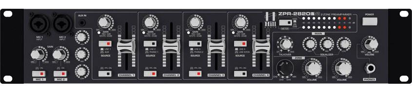 میکسر و پری آمپ زون بندی محصول کمپانی Hill-Audio ( هیل آدیو ) سری ZPR 2820v2