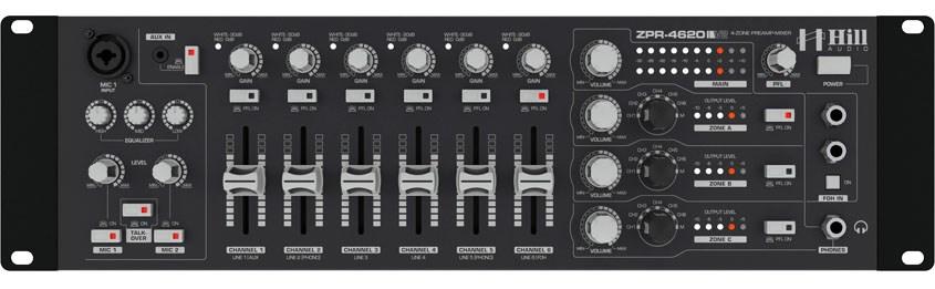 میکسر و پری آمپ زون بندی محصول کمپانی Hill-Audio ( هیل آدیو ) سری ZPR 4620v2