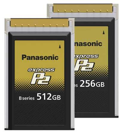 کارت حافظه ویژه رکوردر های تصویر دیجیتال محصول کمپانی Panasonic ( پاناسونیک ) سری B Series P2