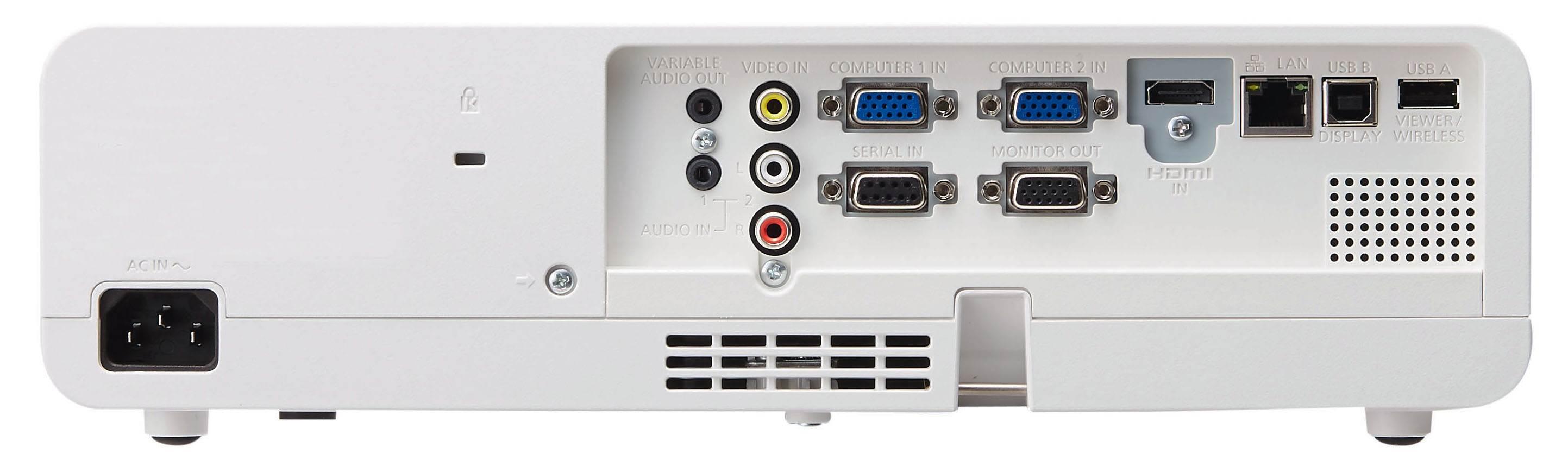 نمای پشت دستگاه ویدئو پروجکشن پاناسونیک سری Panasonic PT-LB423