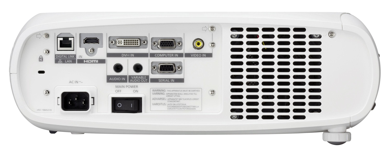نمای پشت ويدئو پروجکشن حرفه ای Full HD با تکنولوژی لیزری (LED/Laser) پاناسونیک مدل PT-RZ370