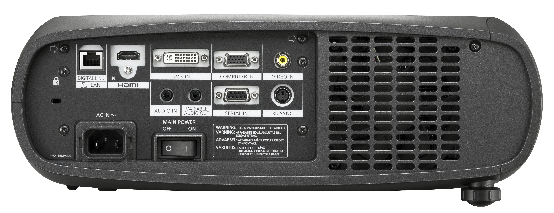 نمای پشت ويدئو پروجکشن 3D حرفه ای Full HD با تکنولوژی لیزری (LED/Laser) محصول کمپاني Panasonic سری PT-RZ470