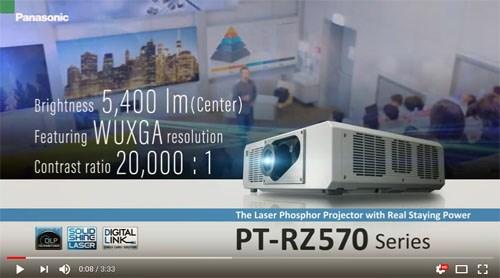 Panasonic PT-RZ570/PT-RZ575 – فیلم آموزشی و معرفی ويدئو پروجکشن Full HD با تکنولوژی لیزری و قابلیت 24/7