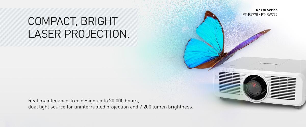 Panasonic PT-RZ770 – فیلم آموزشی و معرفی ويدئو پروجکشن Full HD با تکنولوژی لیزری و قابلیت 24/7