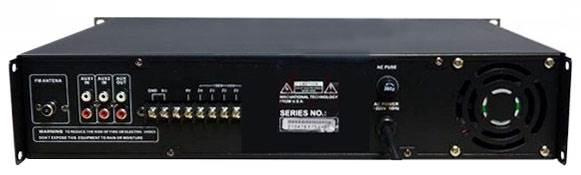 نمای پشت پاور آمپلی فایر آنالوگ PV PM Series ( پی وی ) سری Public Addrerss Amplifier