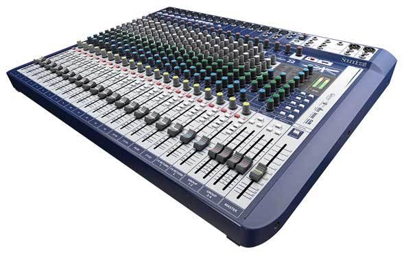 میکسر صوتی آنالوگ محصول کمپانی Soundcraft (ساندکرافت ) مدل Signature 22
