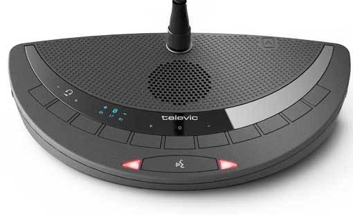 سیستم کنفرانس دیجیتال محصول کمپانی Televic ( تلویک ) مدل Confedia T-CV