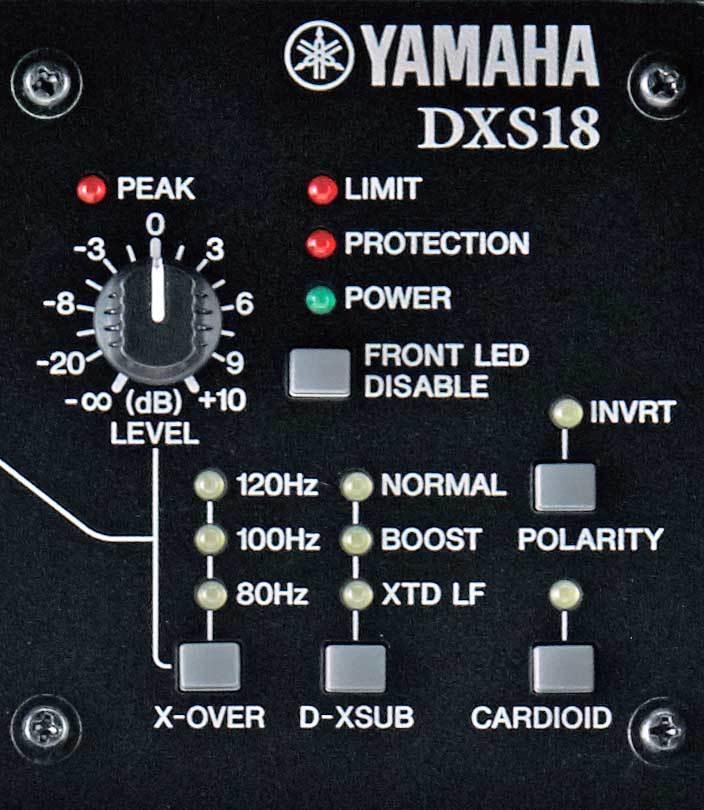 نمای پشت ساب اکتیو یاماها سری DXS Series