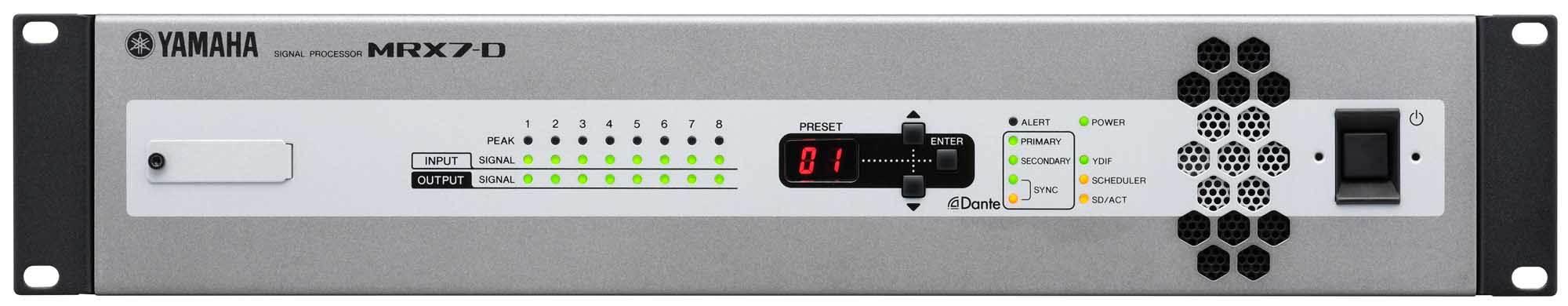 میکسر ، پری آمپ و پروسسور هوشمند و تحت شبکه صوتی محصول کمپانی YAMAHA ( یاماها ) مدل MRX7-D