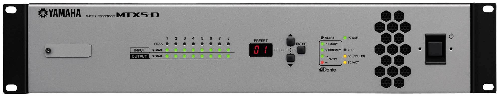 میکسر ، پری آمپ و پروسسور هوشمند و تحت شبکه صوتی محصول کمپانی YAMAHA ( یاماها ) مدل MTX5-D