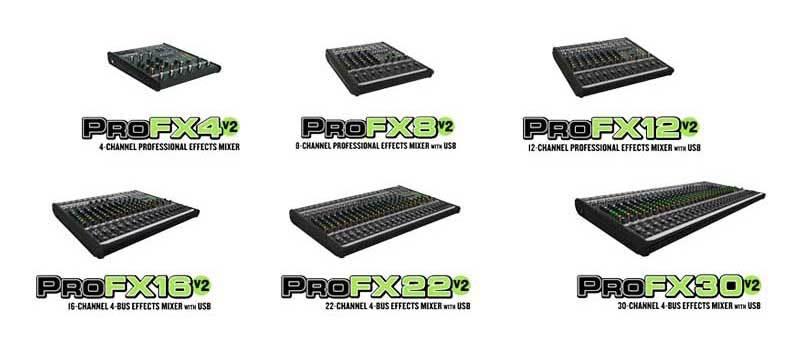 میکسر صوتی آنالوگ محصول کمپانی Mackie (مکی ) سری ProFX v2
