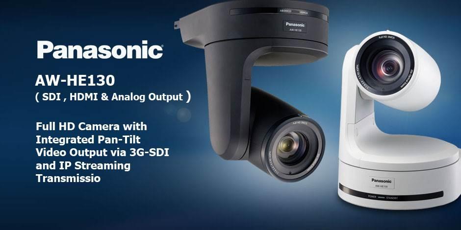 دوربین تصویر برداری PTZ با کیفیت Full HD محصول کمپانی Panasonic ( پاناسونیک ) مدل AW-HE130