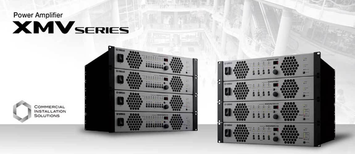 پاور آمپلی فایر های آنالوگ و تحت شبکه 4,8 کانال محصول کمپانی Yamaha ( یاماها ) سری XMV