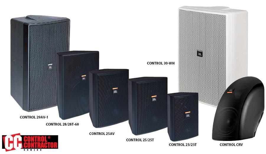 انواع بلندگو های دکوراتیو محصول کمپانی JBL ( جی بی ال ) سری Control ® Contractor Surface-Mount Speak