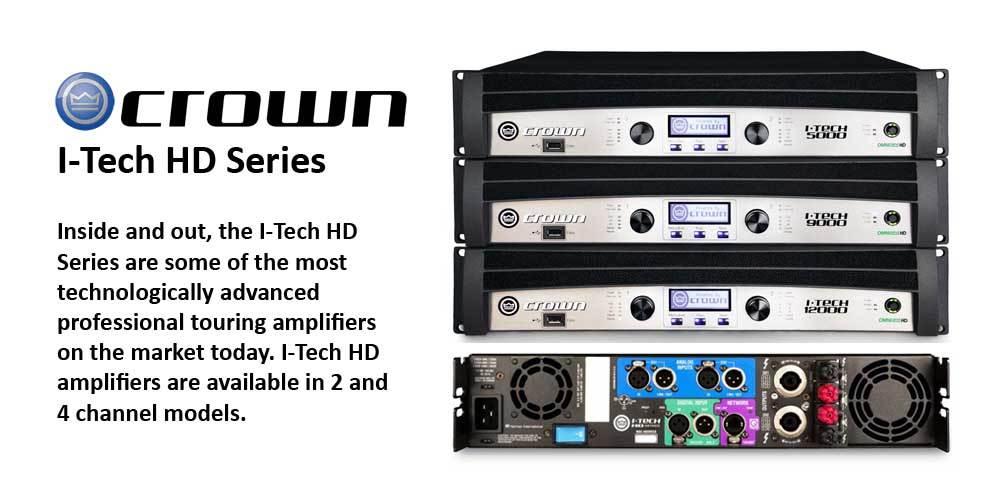 پاور آمپلی فایر های 2,4 کانال محصول کمپانی Crown ( کرون ) سری i-Tech HD