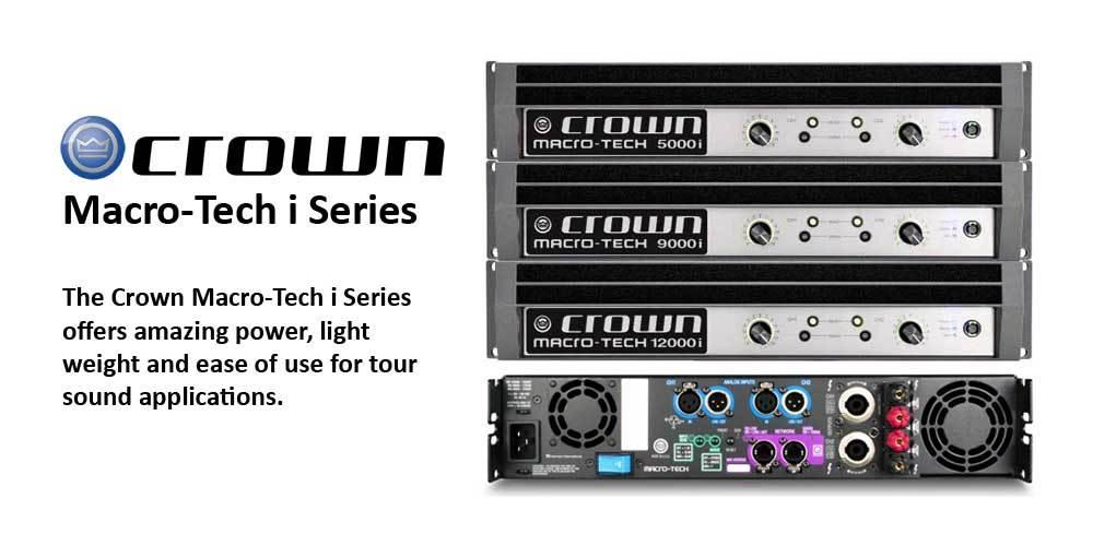 پاور آمپلی فایر های 2 کانال محصول کمپانی Crown ( کرون ) سری Macro-Tech i Series