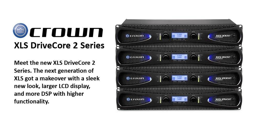 پاور آمپلی فایر های 2 کانال محصول کمپانی Crown ( کرون ) سری XLS 2 Series