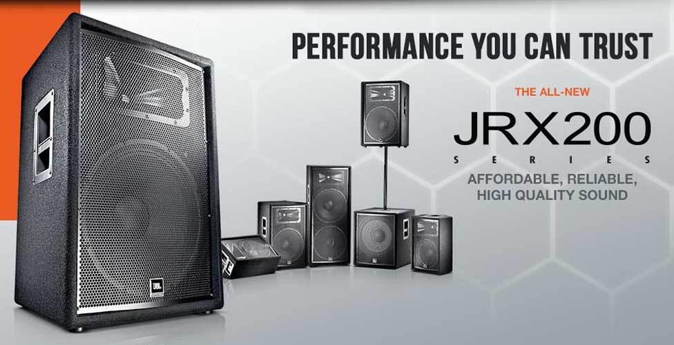 باند و ساب های پسیو حرفه ای ساخت کمپانی JBL ( جی بی ال ) سری JRX 200