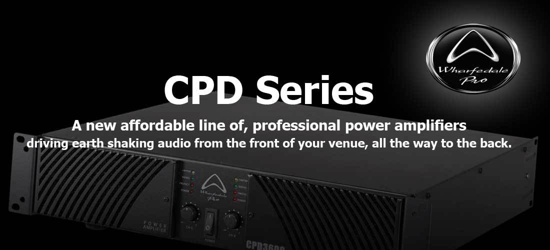 پاور آمپلی فایر حرفه ای ساخت کمپانی Wharfedale ( وارفیدل ) سری CPD Series