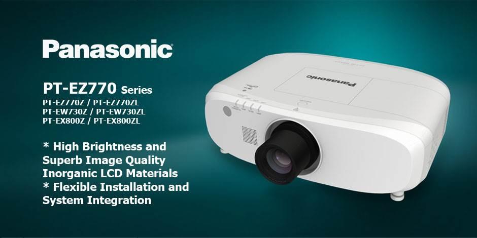 ویدئو پرژکتور های حرفه ای HD و Full HD محصول کمپانی Panasonic ( پاناسونیک ) سری PT-EZ770