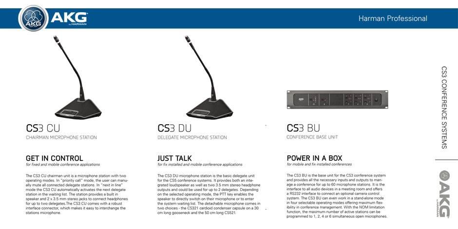 سيستم کنفرانس دیجیتال ساخت کمپاني AKG ( ای کی جی ) مدل CS3