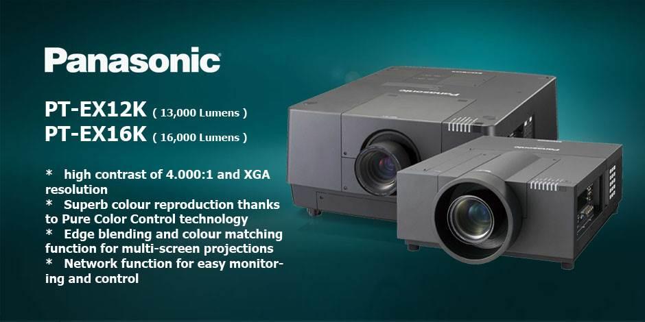 ویدئو پرژکتور های حرفه ای سینمایی محصول کمپانی Panasonic ( پاناسونیک ) سری PT-EX12K , PT-EX16K