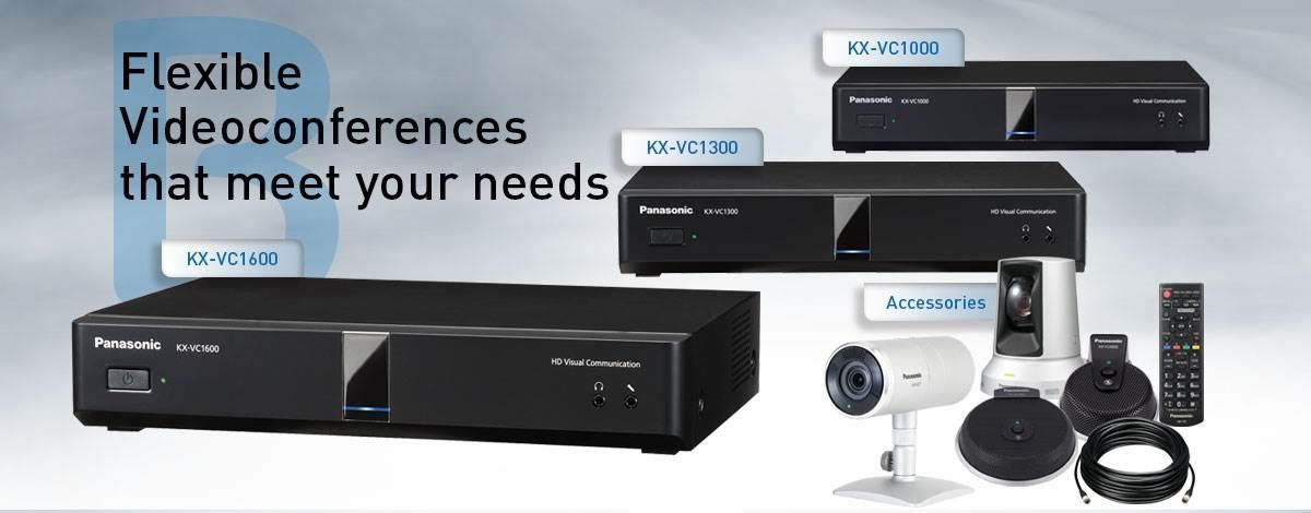 سیستم ویدئو کنفرانس گروهی Full HD محصول کمپانی Panasonic ( پاناسونیک ) مدل های VC1000,VC1300,VC1600,VC2000