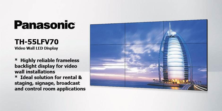 مانیتور صنعتی ویدئو وال ( Video Wall ) محصول کمپانی Panasonic ( پاناسونیک ) مدل TH-55LFV70