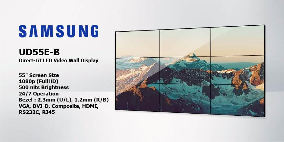 مانیتور صنعتی ویدئو وال ( Video Wall ) محصول کمپانی Samsung ( سامسونگ ) مدل UD55E-B