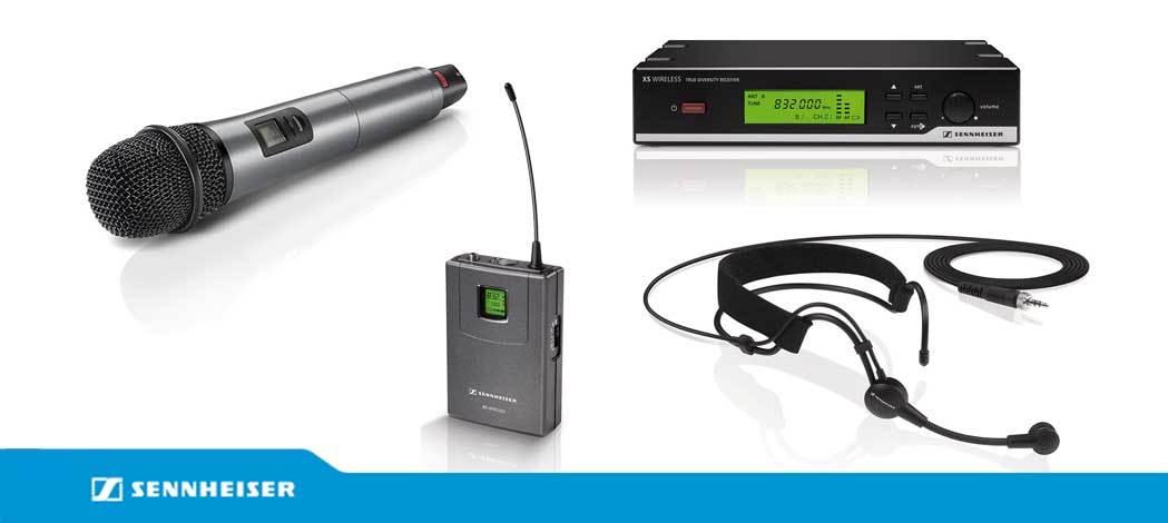 میکروفن های بیسیم حرفه ای ساخت کمپانی Sennheiser ( سن هایزر ) سری XSW