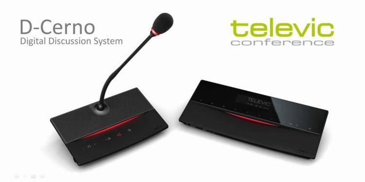 Televic D-Cerno - سیستم کنفرانس دیجیتال لمسی تلویک با قابلیت اتو ترکینگ