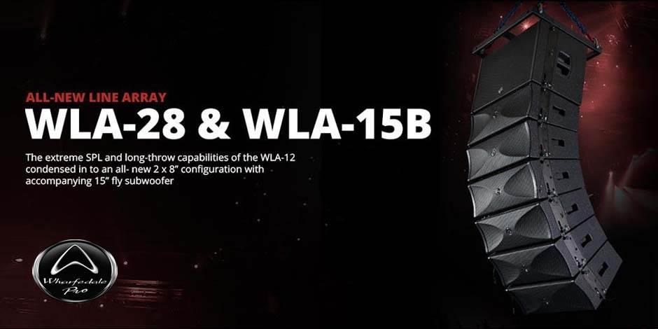 اسپیکر های حرفه ای لاین اری Line Array ساخت کمپانی Wharfedale ( وارفیدل ) سری WLA Series