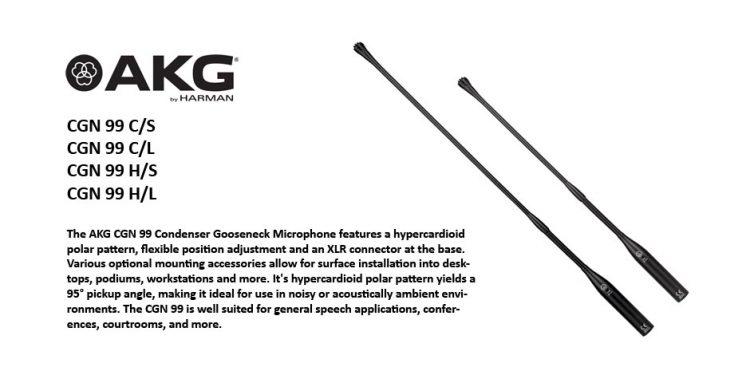 میکروفن های تریبونی حرفه ای ساخت کمپانی AKG ( ای کی جی ) سری CGN 99