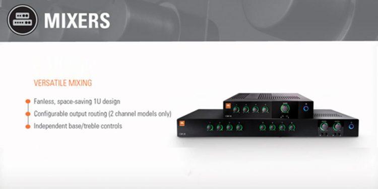 میکسر و پری آمپ آنالوگ محصول کمپانی JBL ( جی بی ال ) سری CSM Series