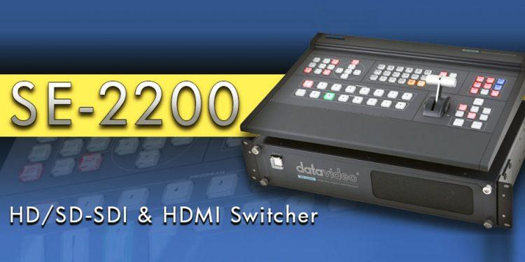 میکسر تصویر دیجیتال حرفه ای 6 کانال محصول کمپانی DataVideo ( دیتا ویدئو ) مدل SE2200
