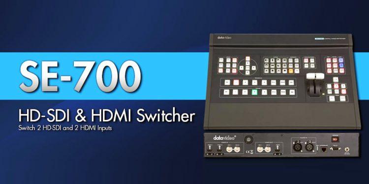 میکسر تصویر دیجیتال حرفه ای 4 کانال محصول کمپانی DataVideo ( دیتا ویدئو ) مدل SE700
