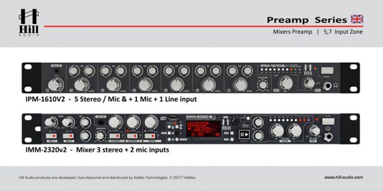 میکسر و پری آمپ محصول کمپانی Hill-Audio ( هیل آدیو ) مدل های IMM و IPM