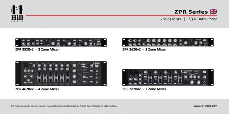 میکسر و پری آمپ زون بندی محصول کمپانی Hill-Audio ( هیل آدیو ) سری ZPR