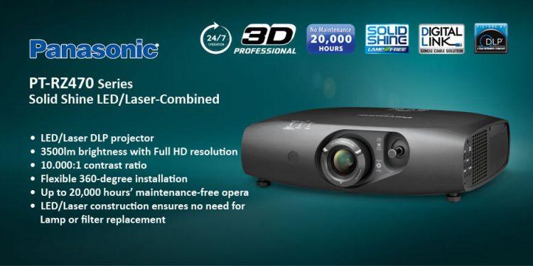 Panasonic PT-RZ470 - ويدئو پروجکشن 3D/Full HD با تکنولوژی لیزری
