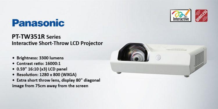 ویدئو پرژکتور های حرفه ای Short-Throw محصول کمپانی Panasonic ( پاناسونیک ) سری PT-TW351R