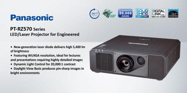 Panasonic PT-RZ570 – ويدئو پروجکشن Full HD با تکنولوژی لیزری و قابلیت 24/7