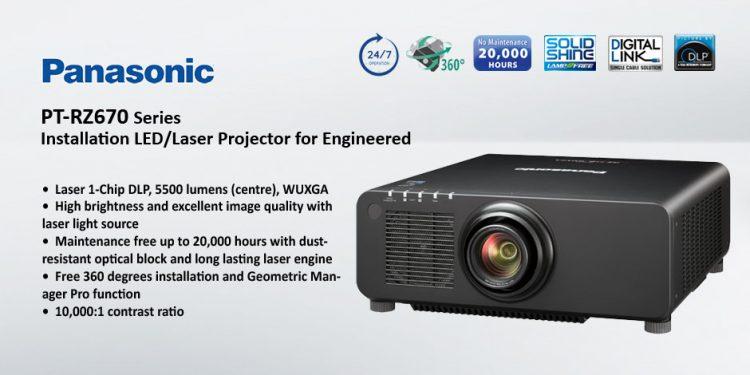 Panasonic PT-RZ670 – ويدئو پروجکشن Full HD با تکنولوژی لیزری و قابلیت 24/7