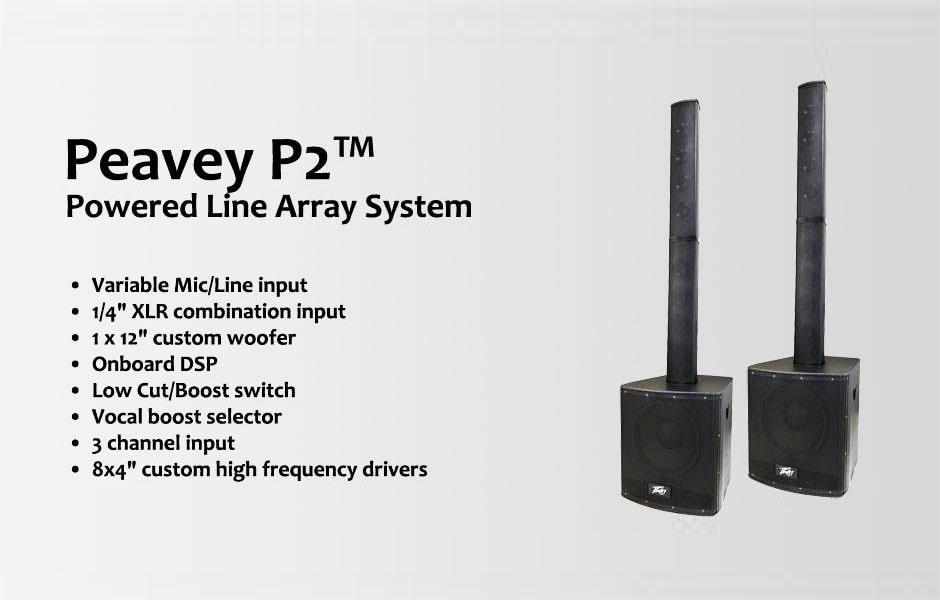 سیستم صوتی پرتابل مارک Peavey سری P2 بهترین گزینه صوتی جهت منازل و سالن های متوسط